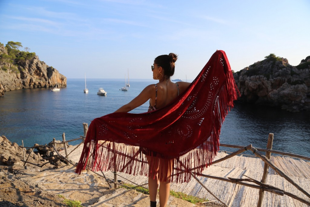Leather Poncho in Mallorca