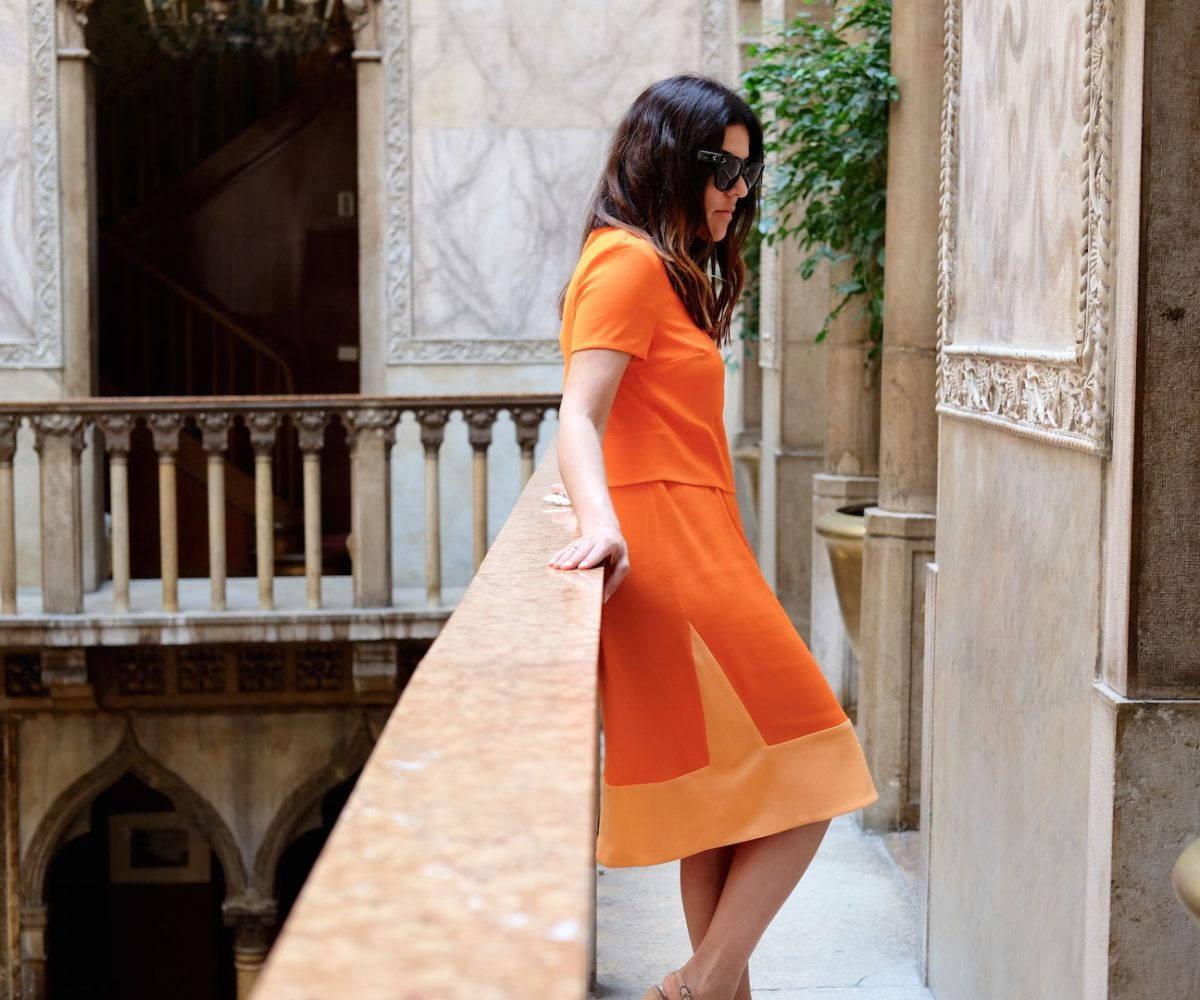 Wearing Ted Baker in Venice
