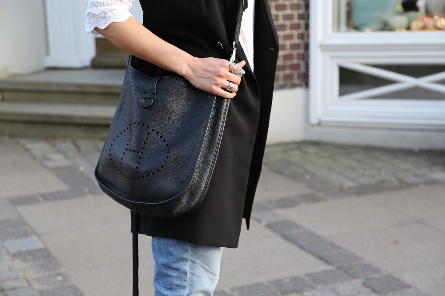 Long Vest & Hermès Bag